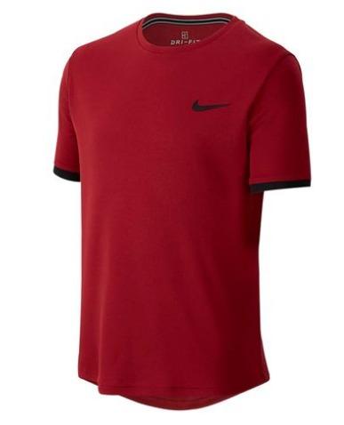 Nike Court Dry Crew T-Shirt Rosso Bambino 1