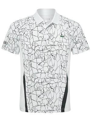 Lacoste Polo Djokovic Ribbed Bianco Uomo 1